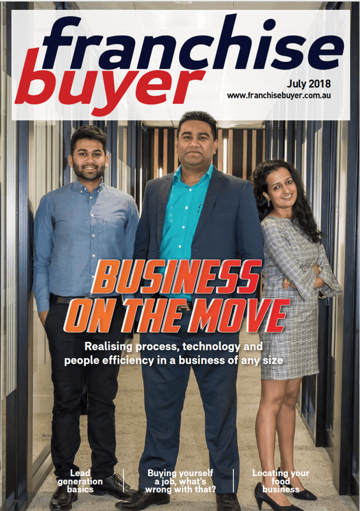 Franchise Buyer Magazine Cover - Valenta BPO Australia